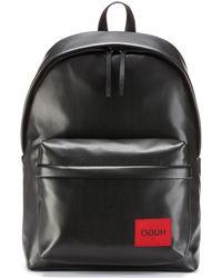 d0381a9a520 HUGO Leather Rucksack: 'efrem' in Black for Men - Lyst