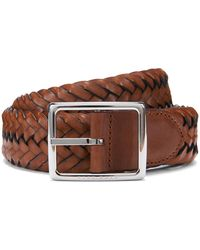 BOSS - Woven Reversible Belt In Fabric And Leather - Lyst
