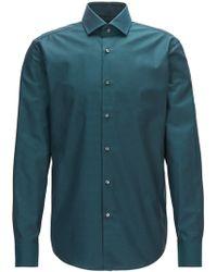 BOSS | Regular-fit Shirt In Argyle-patterned Cotton | Lyst