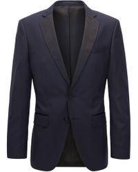 a64df0e0 BOSS Virgin Wool Sport Coat, Slim Fit | Hutsons in Blue for Men - Lyst