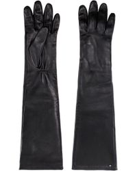 HUGO - Long Gloves In Nappa Lambskin With Branded Stud - Lyst