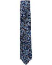 BOSS - Square Jacquard Italian Silk Tie - Lyst