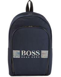 BOSS - Lightweight Backpack With Seasonal-print Rubber Logo - Lyst