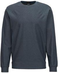 BOSS - Slim-fit Mélange Sweatshirt With S.café® - Lyst