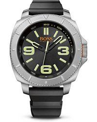 BOSS Orange - '1513107' | Black Silicone Strap 3-hand Quartz Sao Paulo Watch - Lyst