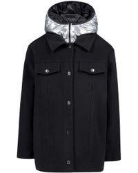 HUGO - Wool-blend Jacket With Detachable Metallic Down-filled Gilet - Lyst