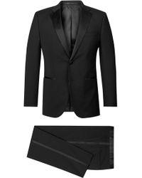 754fb1b66 BOSS Boss Stars Glamour Regular Fit Tuxedo in Blue for Men - Lyst