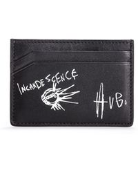 HUGO - Graphic Print Leather Card Holder   Tribute P S Card - Lyst