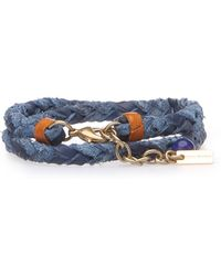 BOSS Orange - Double-row Leather Bracelet In A Braided Look: 'mourtney1' - Lyst