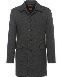 BOSS Orange - Short Coat In Tweed-effect Fabric Blend: 'bodhy' - Lyst