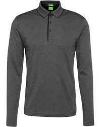 BOSS Green - Regular-fit Long-sleeved Polo Shirt In Cotton Jersey: 'c-prato' - Lyst