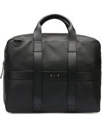 BOSS Orange - Leather Weekender Bag With Detachable Shoulder Straps: 'journey_holdall' - Lyst