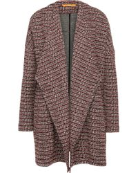 BOSS Orange - Comfort-fit Bouclé Knitted Coat In A Stretchy Cotton Blend With Viscose: 'tiver' - Lyst