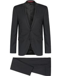 HUGO - Patterned Extra Slim-fit Suit In New Wool: 'adris4/heibo3' - Lyst