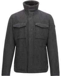 BOSS Orange - Regular-fit Coat In A Wool Blend - Lyst