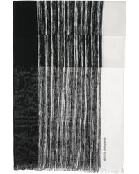 BOSS Orange - 'nabril'   Cotton Broken Stripe Scarf - Lyst