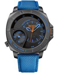 BOSS Orange - '1513209' | Woven Nylon Strap Quartz Watch - Lyst