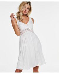 Hunkemöller Vestido combinación Modal Lace - Blanco