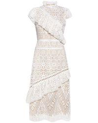 Sea | Awry Lace Ruffle Midi Dress | Lyst