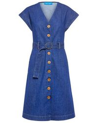 M.i.h Jeans - Tucson Belted Denim Dress - Lyst