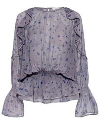 IRO - July Floral Ruffled Blouse - Lyst