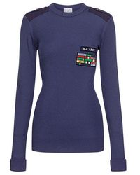 Stella Jean - Military Patch Embellished Sweater - Lyst