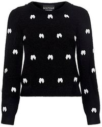 Boutique Moschino - All-over Bow Ties Sweater - Lyst