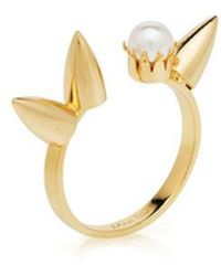 Joomi Lim - Love Thorn 3 Spikes & Pearl Open Ring - Lyst