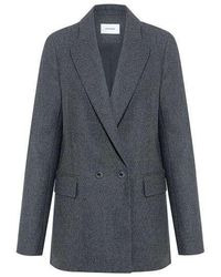 Carven - Flannel Double Breasted Jacket - Lyst