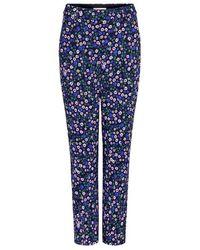 Rebecca Taylor - Juliet Floral Straight-leg Pants - Lyst
