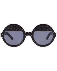 Ksubi - Bellatrix Polka Dot Round Frame Sunglasses - Lyst