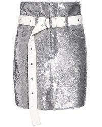IRO - Natou Belted Sequined High-rise Mini Skirt - Lyst