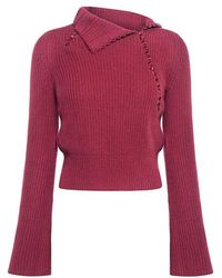 10 Crosby Derek Lam - Foldover Collar Cashmere Sweater - Lyst