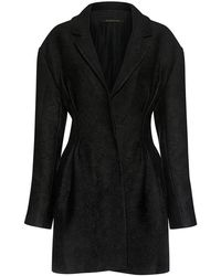 Mother Of Pearl   Evelyn Floral Jacquard Ribbon Cuff Coat   Lyst