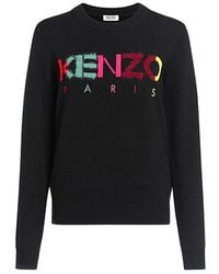KENZO - Paris Rainbow Logo Classic Sweater - Lyst