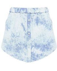 Thakoon - Sac Denim Shirt Hem Shorts - Lyst