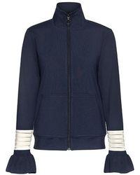 Ganni - Presbourg Stripe Ruffle Sleeve Jacket - Lyst