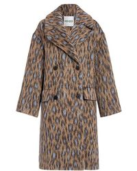 KENZO - Leopard Double-breasted Oversized Coat - Lyst