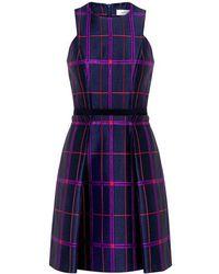 Carven - Tartan Jacquard Dress - Lyst