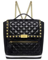 Boutique Moschino - Quilted Leather Chain Strap Backpack - Lyst