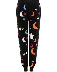 Chinti & Parker - Midnight Sky Intarsia Cashmere Track Pants - Lyst