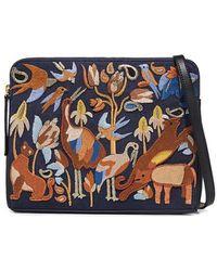 Lizzie Fortunato - Safari Embroidered Serengeti Clutch - Lyst