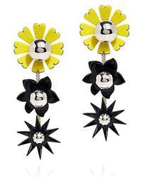 KENZO - Daisy Flowers Mirrored Beads Earrings - Lyst