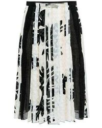 O'2nd - Mono Flower Pleated Skirt - Lyst