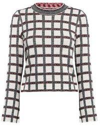10 Crosby Derek Lam - Plaid Cropped Knit Top - Lyst
