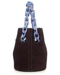 Trademark - Suede Goodall Resin Chain Bucket Bag - Lyst