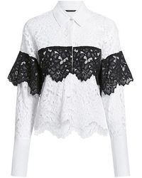 63d9b8e2724298 Marissa Webb - Justine Two-toned Sheer Lace Shirt - Lyst
