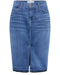 Current/Elliott - The High Rise Denim Pencil Skirt - Lyst