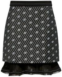 Carven - Jacquard Ruffled Pleats Mini Skirt - Lyst
