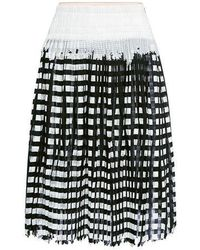 O'2nd - Lina Gingham Pleated Skirt - Lyst